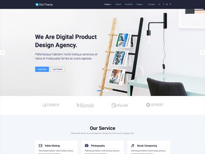 Flat Theme Lite - Free Responsive Multipurpose Site Template