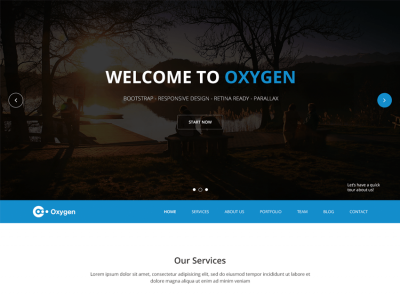 Oxygen - Free Bootstrap One Page Theme