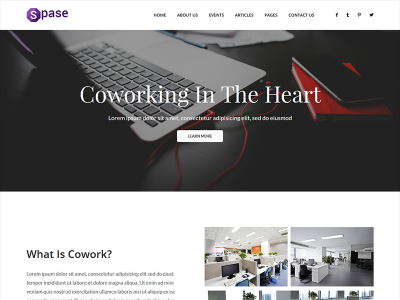 Spase - Free Business and Coworking HTML Template