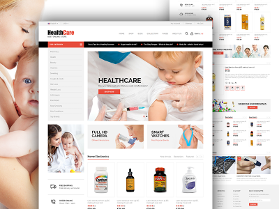Health Care E-Commerce Bootstrap Responcive Template