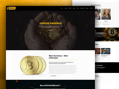 Bitcoin - Crypto Currency Responsive Bootsrap Template